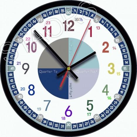 Часы 2021-креатив-03-abc - 12 часовые часы обычного хода