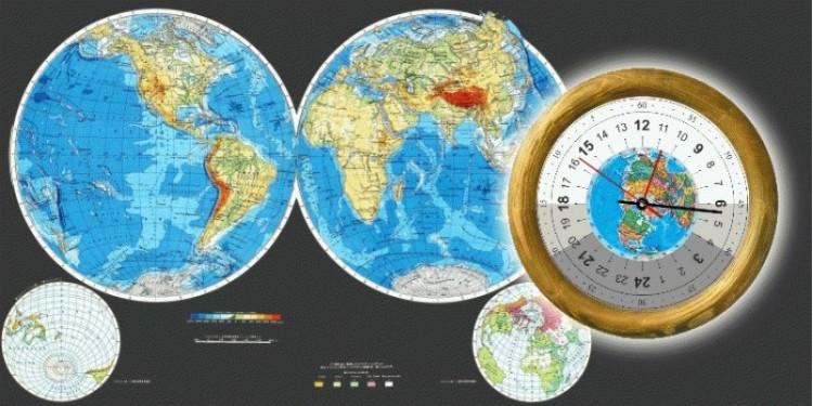 sp.3 - Часы Географические настенные