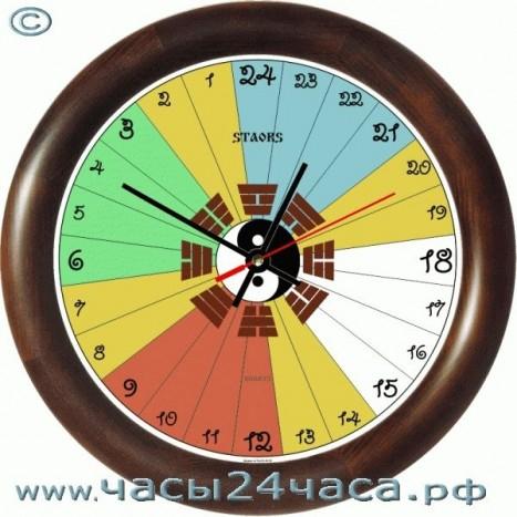 Часы Фэн-Шуй № Fen-Zn-01-24 часы 24 часовые обратного хода
