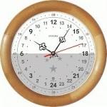 Часы 12 в верху и 24 часа в низу циферблата