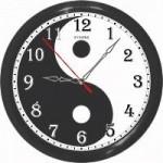 Инь-Янь часы - 12 часовые, обычного хода.