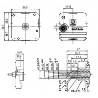Механизм 9/17 мм - 24 часовой - реверс - патент