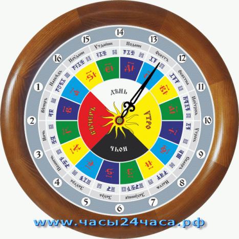 Славянские 14-003 - часы 16 часовые, корпус Макоре