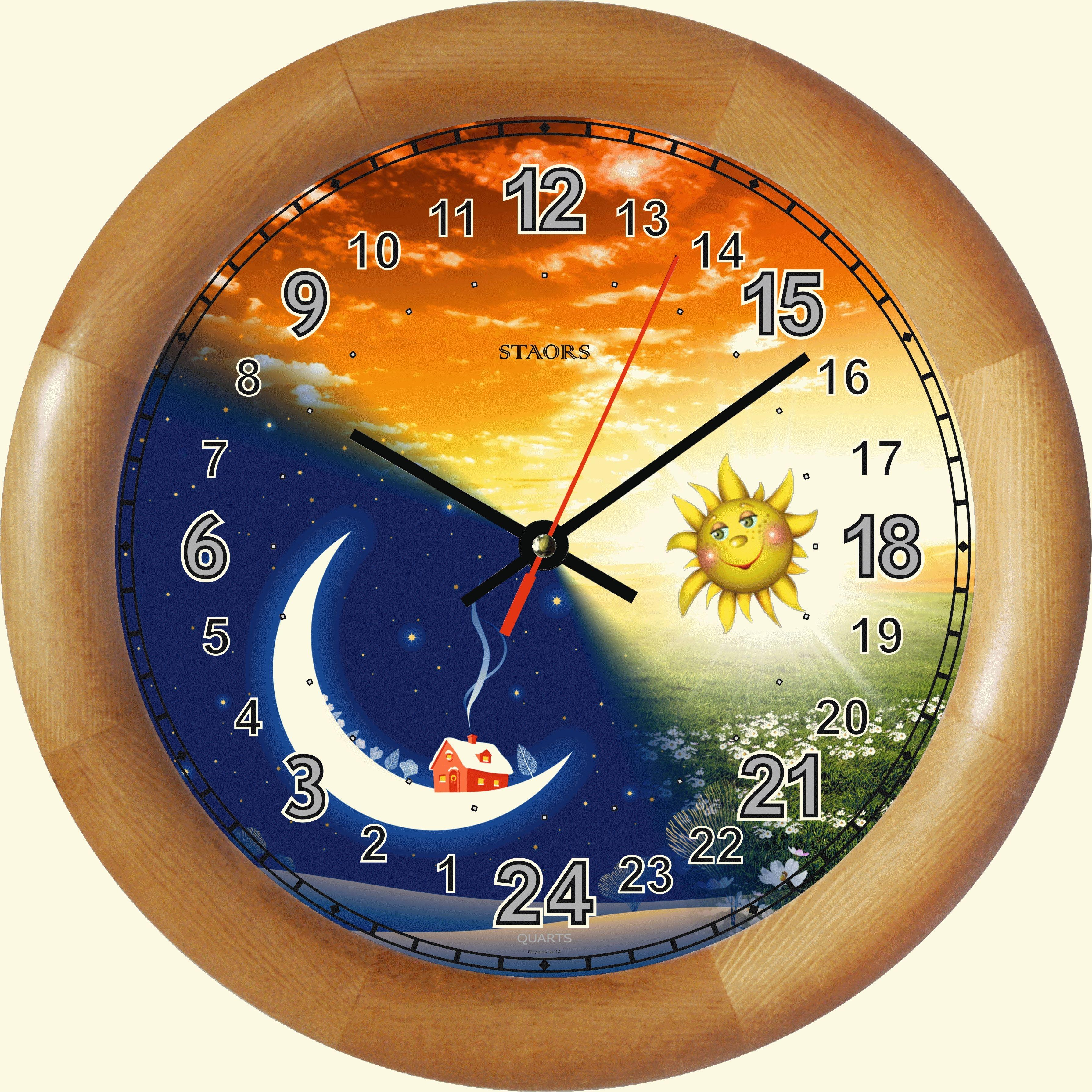 Красивых букетов, часы в картинках дневное время